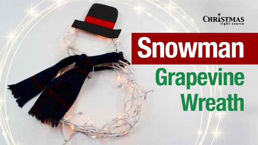 Snowman Grapevine Wreath: Light Your Winter Entryway