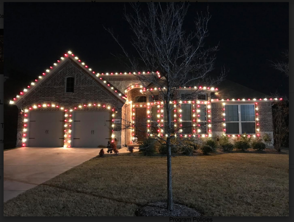 Led Christmas Lights On House.Customer Photo Red And White Smooth Led Bulbs Christmas