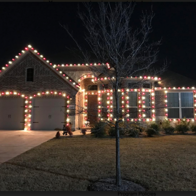 Customer Photo: Red and white smooth LED bulbs