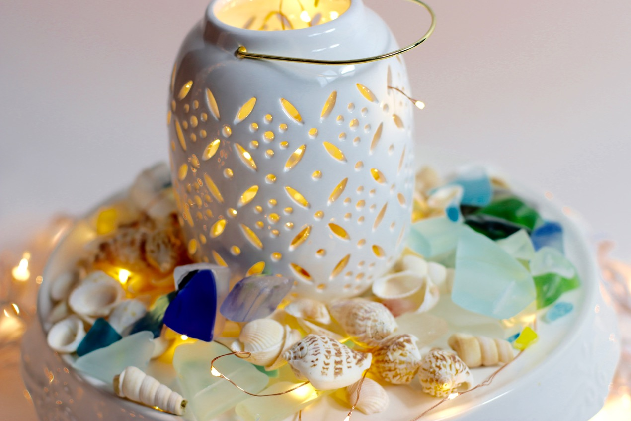 LIfe's a Beach – Beach Centerpiece on a Pedastal