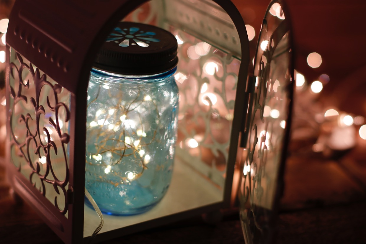 centierpiece lights mason jars meet lanterns