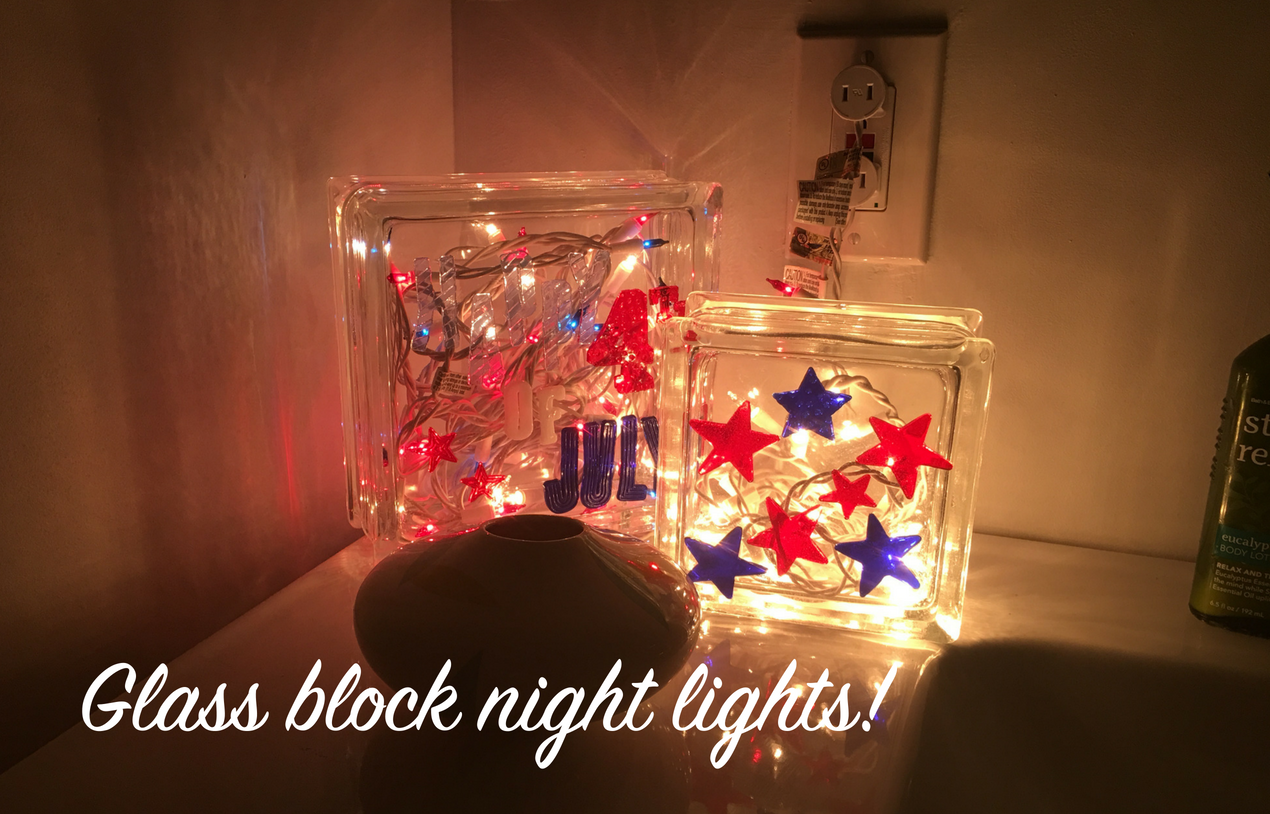 Patriotic Christmas Lights.Patriotic Glass Blocks Christmas Light Source