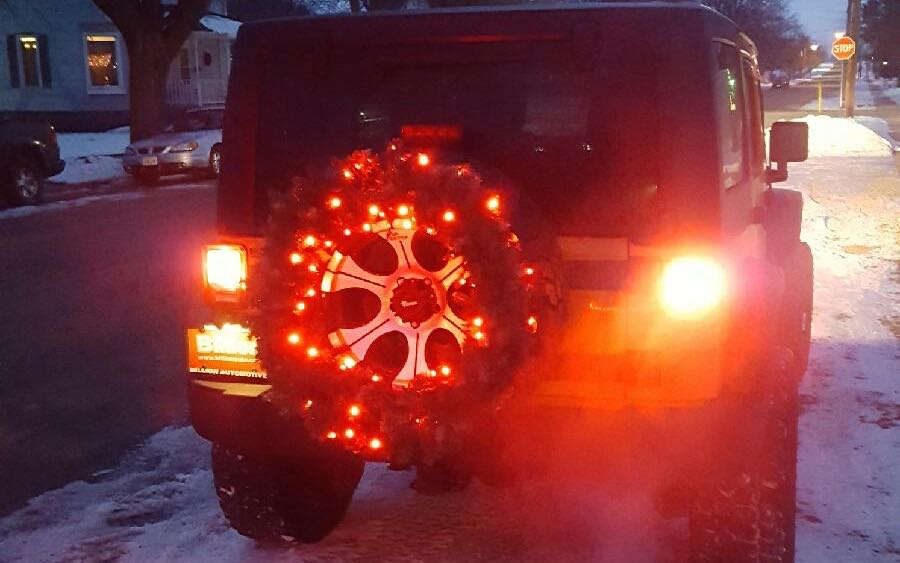 Customer Photo – Lights on a Jeep Spare Tire
