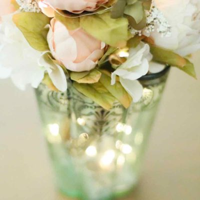 Peonies and Battery Lights