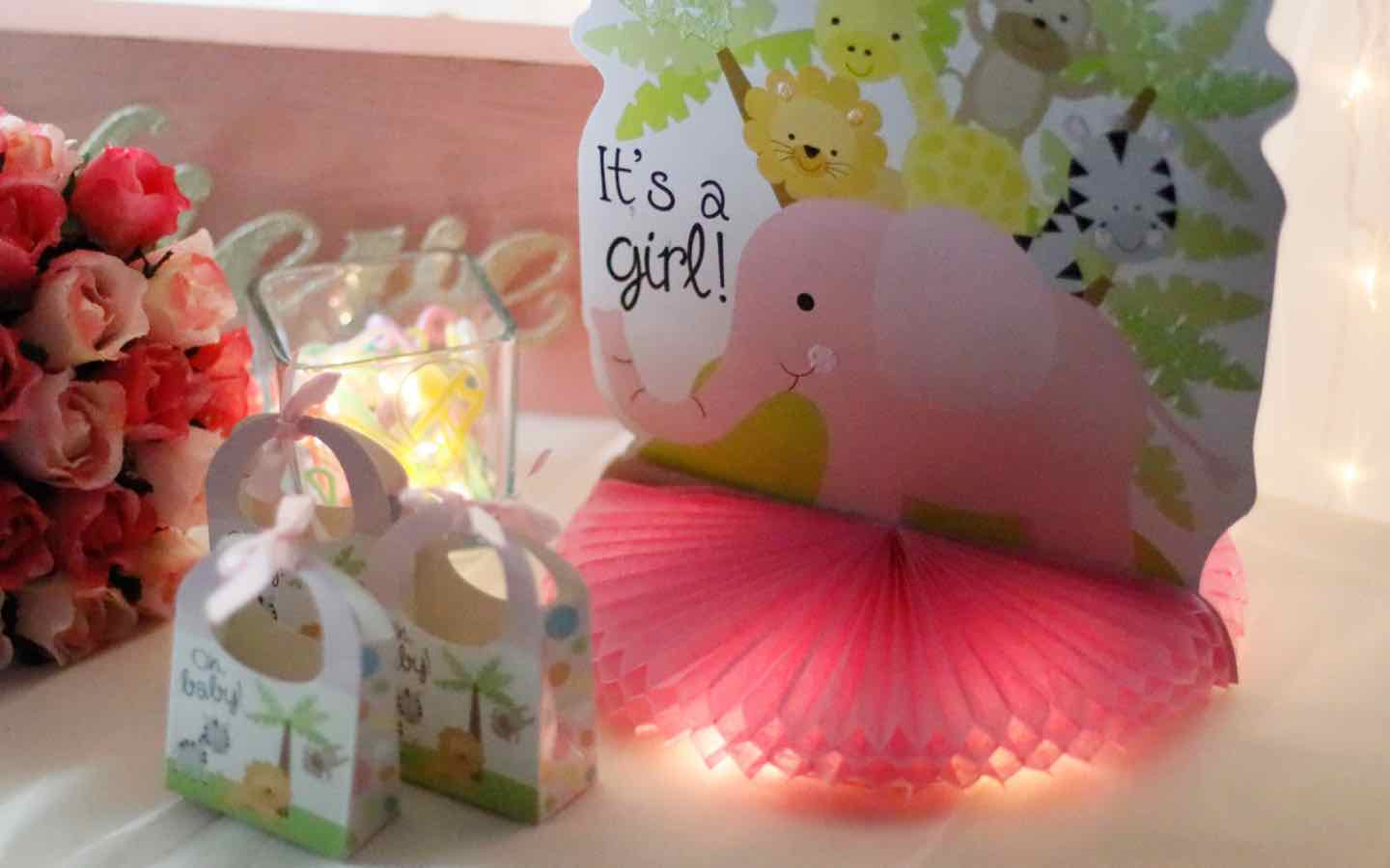 Brighten Up a Baby Centerpiece with Battery Lights