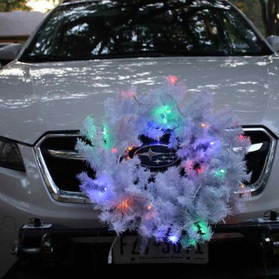 DIY Holiday Car Wreath