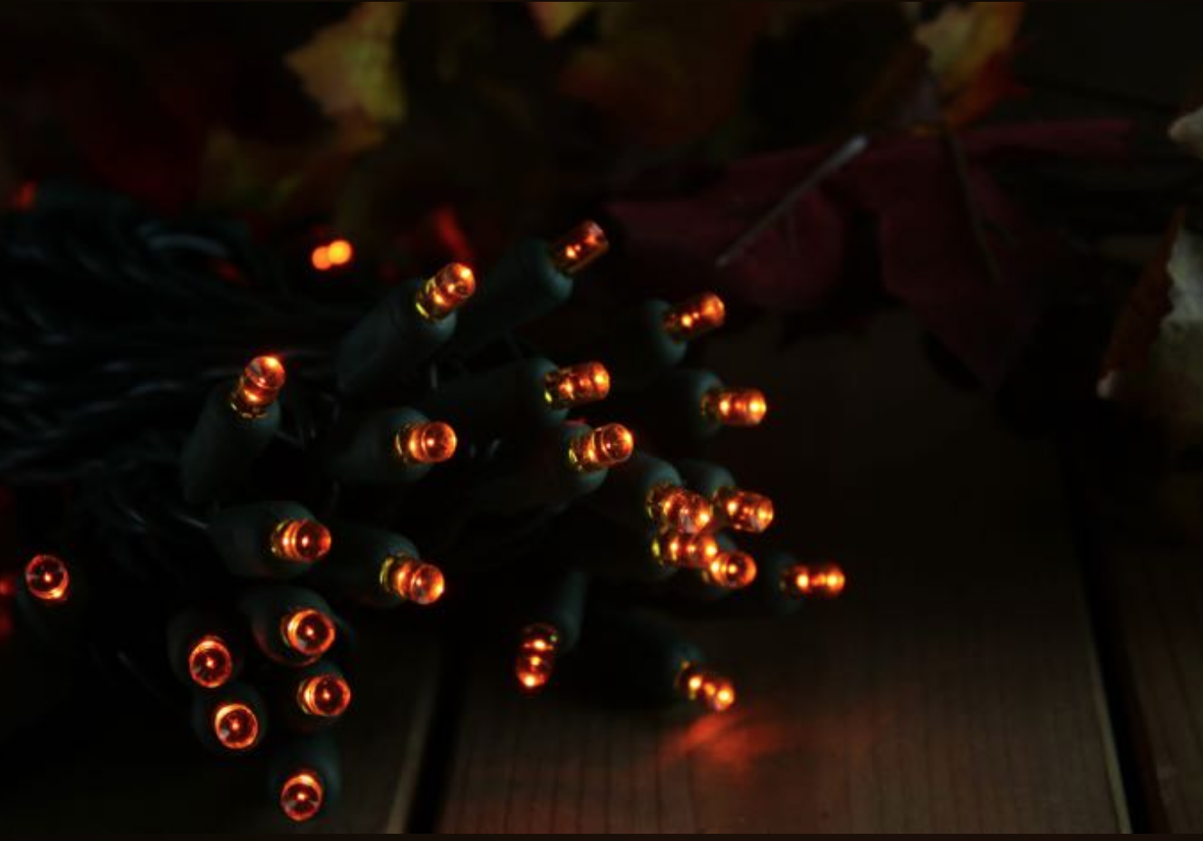 Using Orange LED Christmas Lights