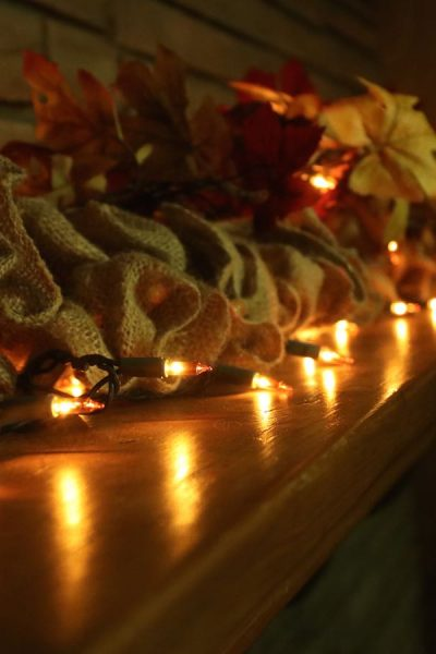 DIY: Decorating a Fall Mantle