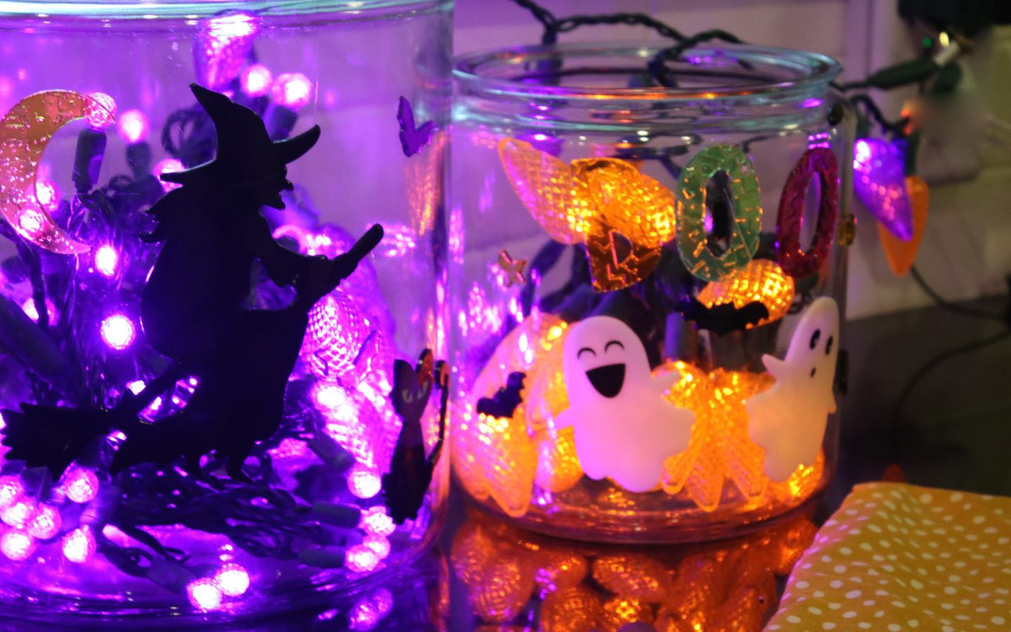 DIY: Halloween Glass Blocks and Canisters