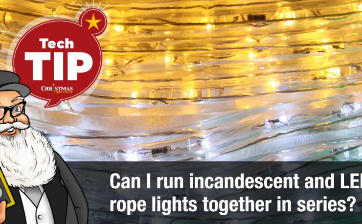 Can I run incandescent and LED rope light together in series?