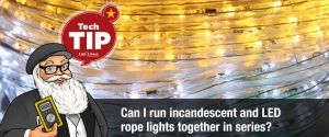 Can I run incandescent and LED rope lights together in series?