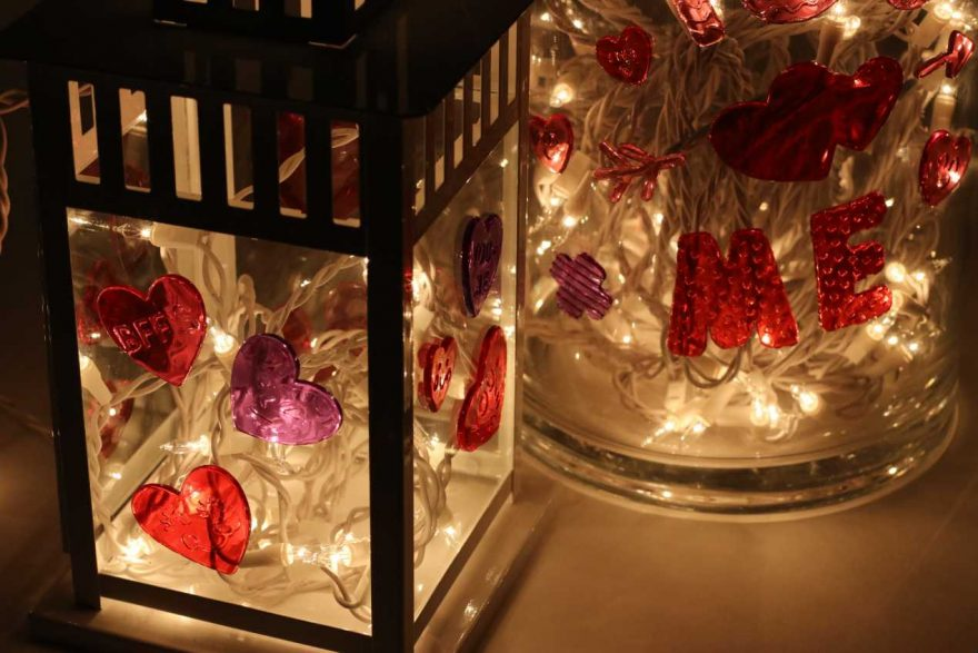 DIY: Valentines Lanterns, Containers and Sticky Hearts!