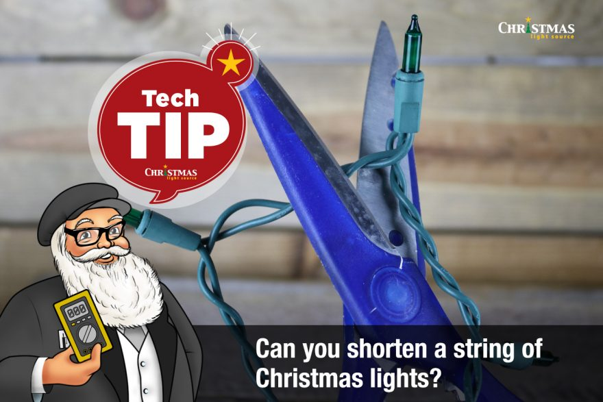 Can you shorten a string of Christmas lights?