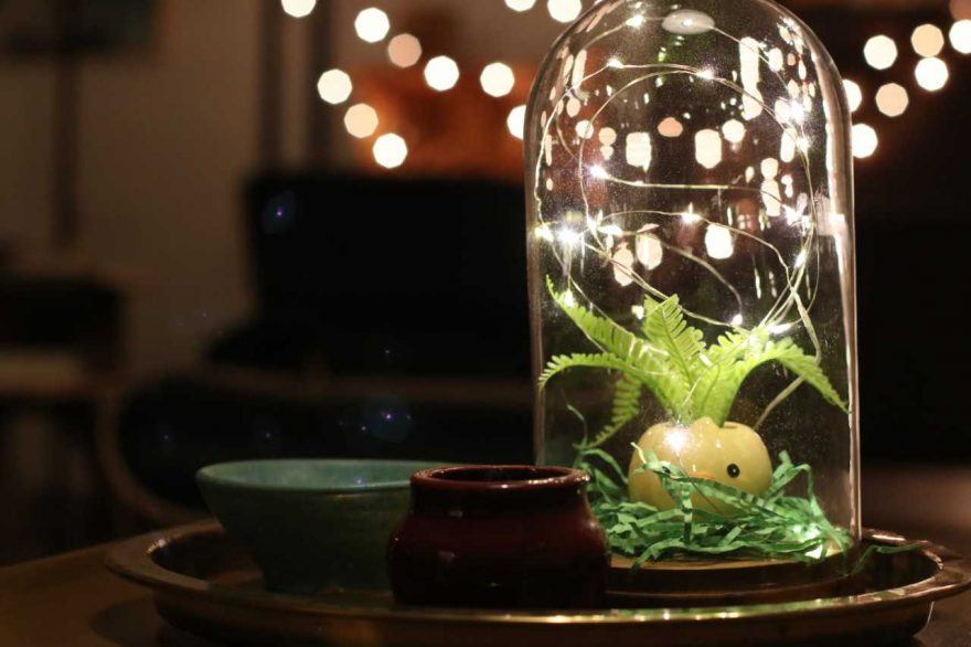 DIY: Easter Chick Planter Dome with Lights!