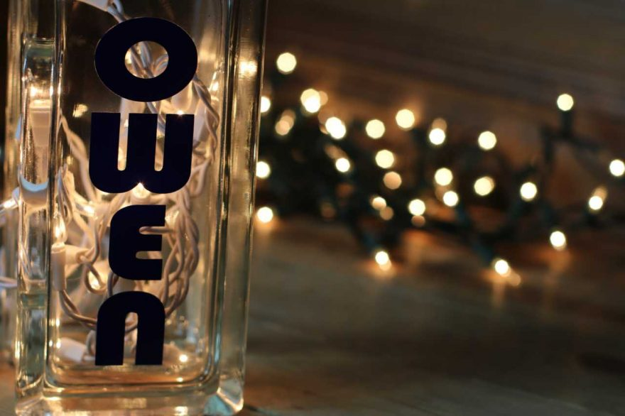 DIY: Birthday Party Lights and Glass Blocks!