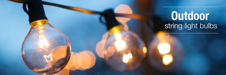 Outdoor string light bulbs