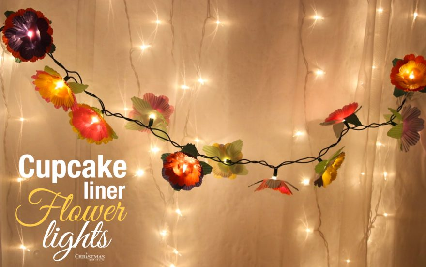 DIY: Cupcake Liner Flower Lights