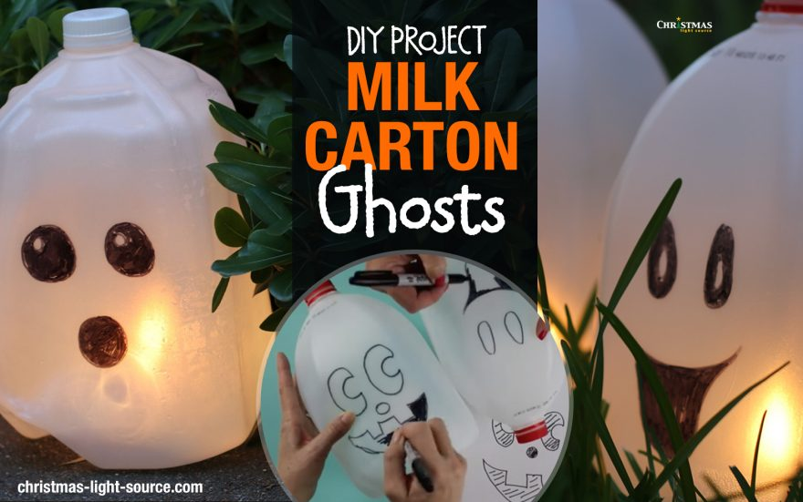 DIY: Milk Carton Ghosts