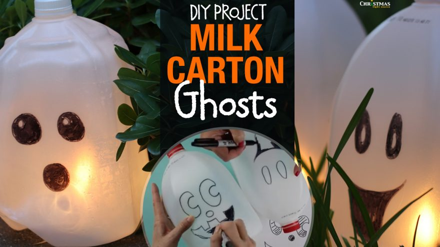 DIY: Milk Carton Ghosts