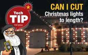 Can I cut Christmas lights to length?