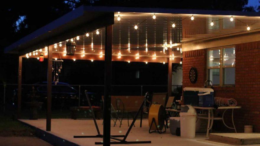 Repurposing Christmas lights after the Season!