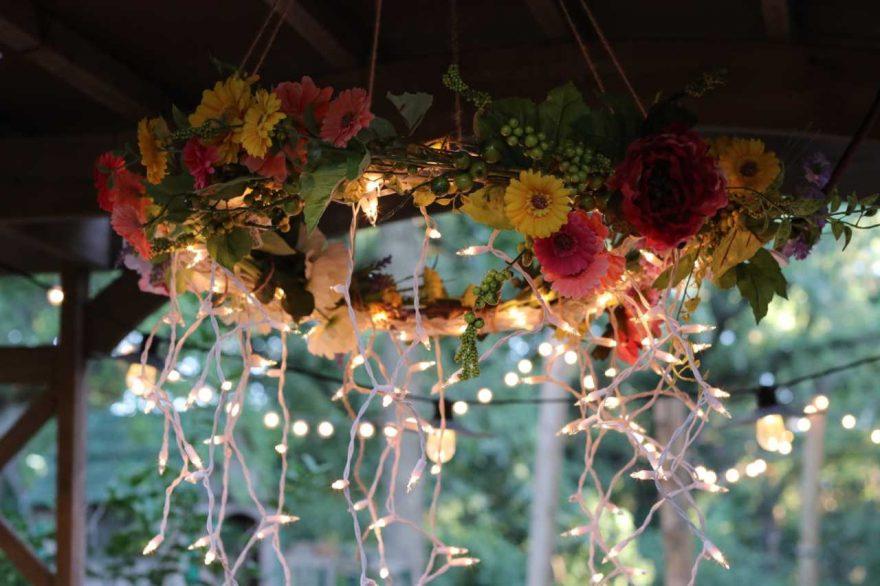 DIY: Hula Hoop Chandelier