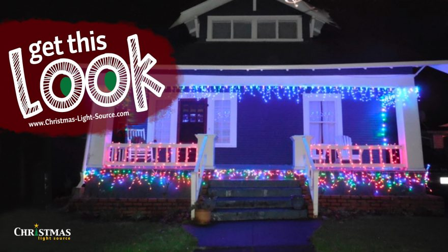 Get this Look! LED Icicle Lights and LED Light Strings