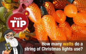 How many watts do a string of Christmas lights use?