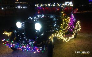 Parade of Lights - Lighting cars for a parade