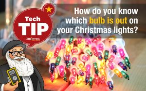 How do you know which bulb is out on your Christmas lights?