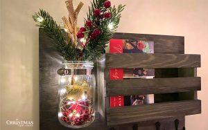 Christmas Lights Key Holder Mason Jar