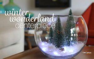 Winter Wonderland Centerpiece - Snowglobe