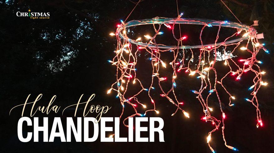 4th of July Hula Hoop Chandelier