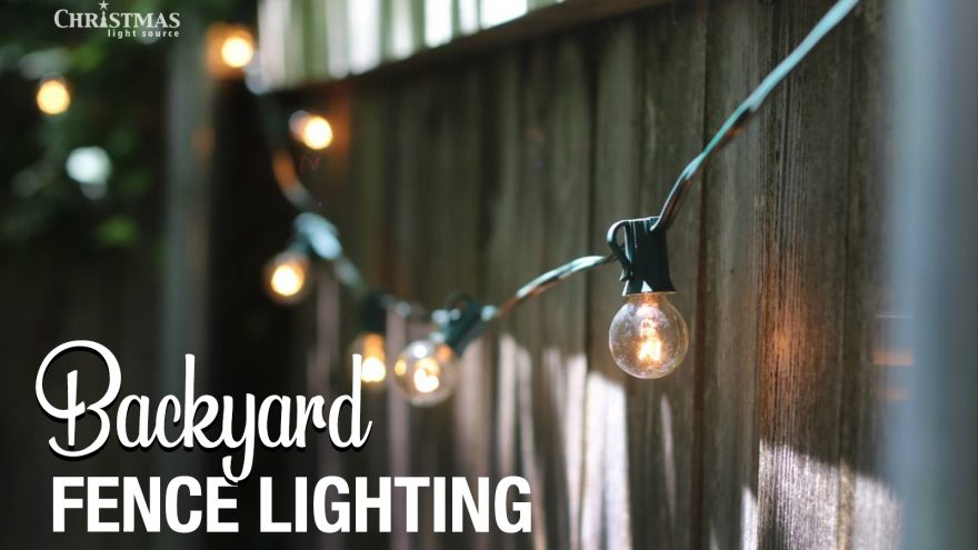 Quick and easy backyard fence lighting project