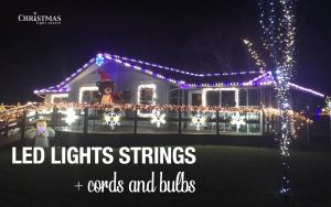 LED lights strings and cords and bulbs