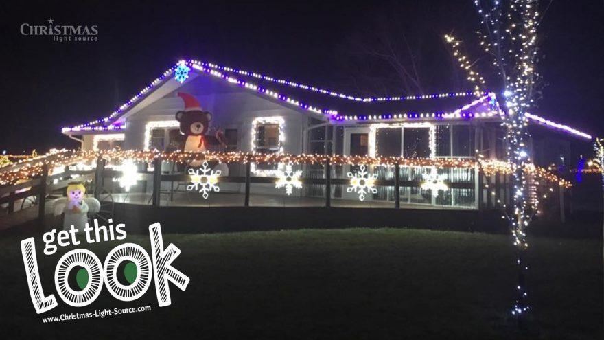 Customer uses both LED lights strings and cords and bulbs for their Christmas Lights Display
