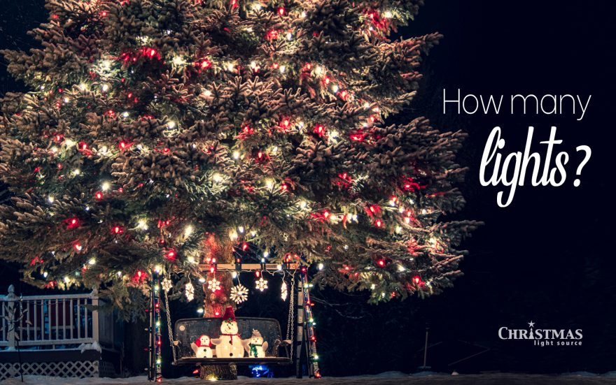 How many lights for a 20-foot tree? Which type of lights? How many can I string together?