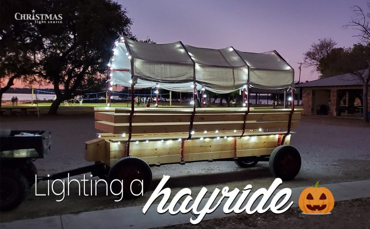 Lighting a Hayride!