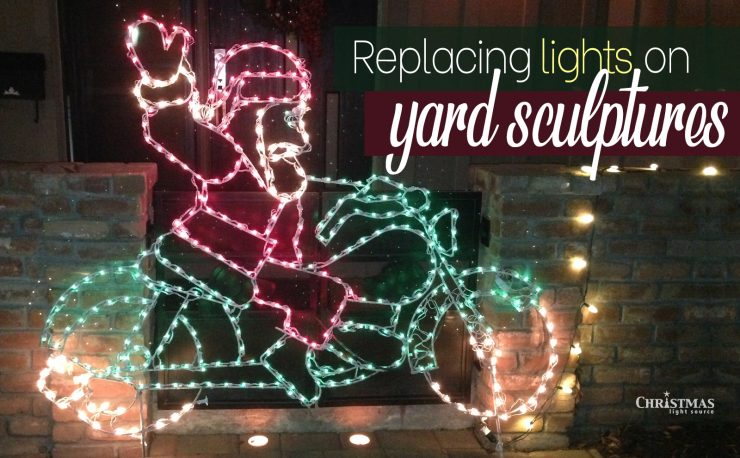 Replacing Lights on Yard Sculptures