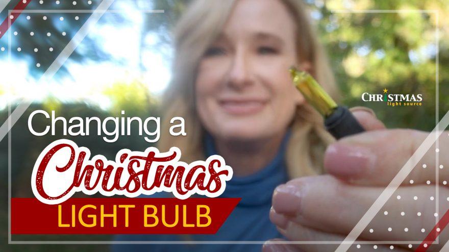 Changing a Christmas Light Bulb