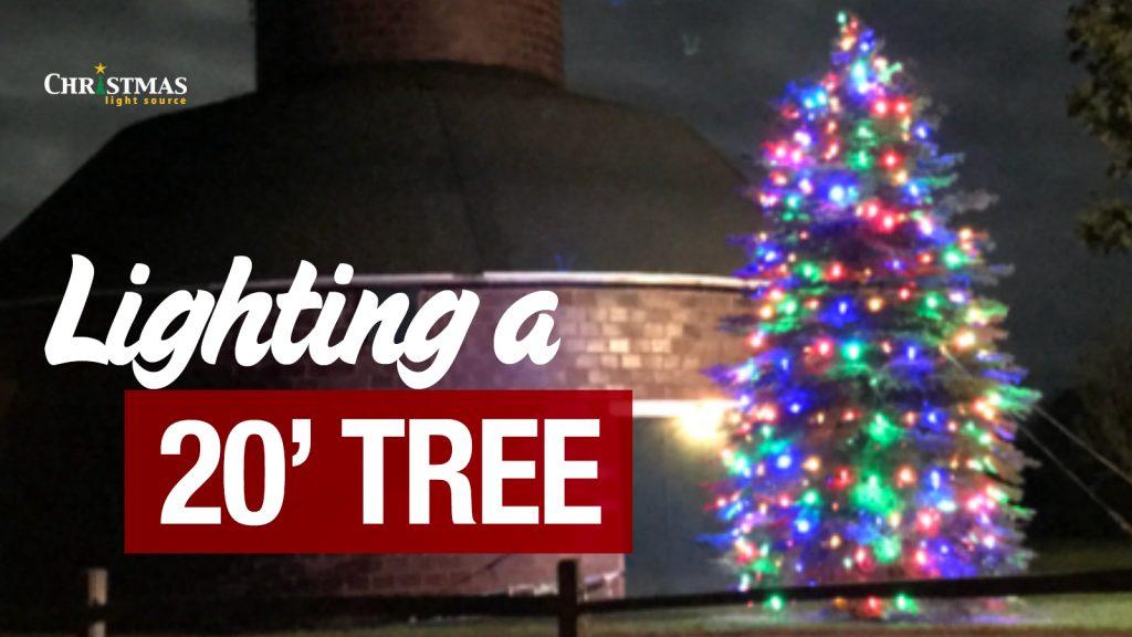 Lighting a 20' Tree
