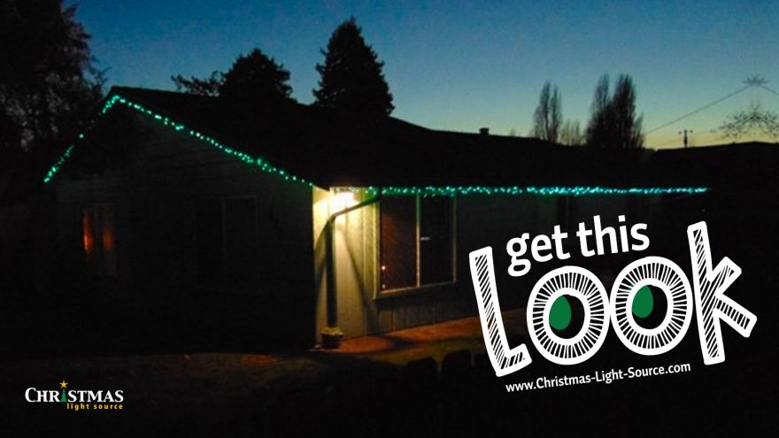Get This Look: Teal mini lights to light a roofline