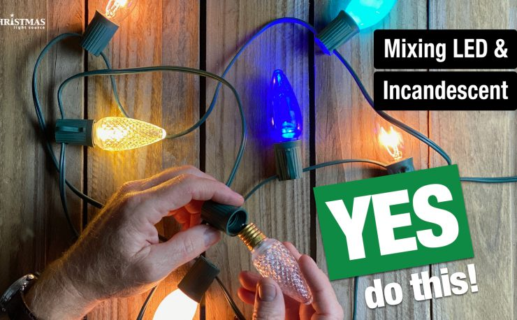 Mixing led and incandescent lights
