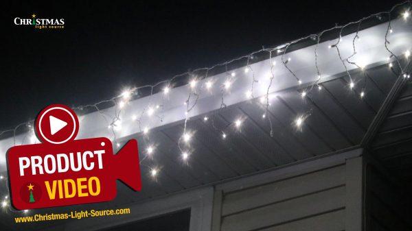 LED Twinkle Icicle Lights