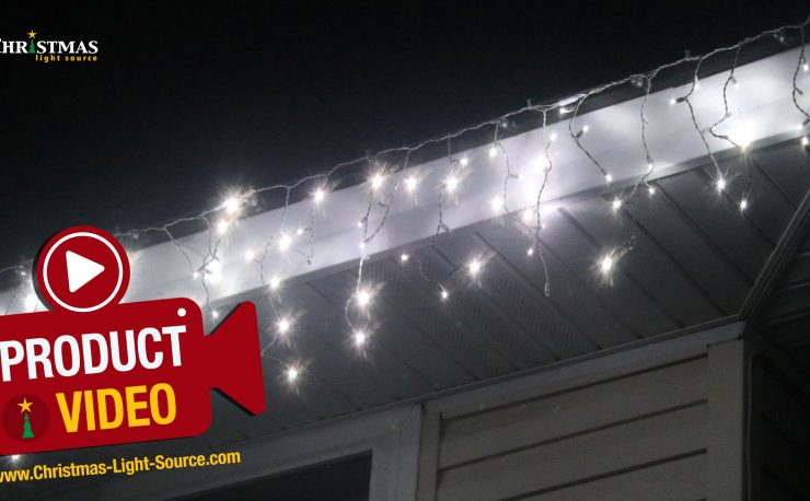 LED Twinkle Icicle Lights
