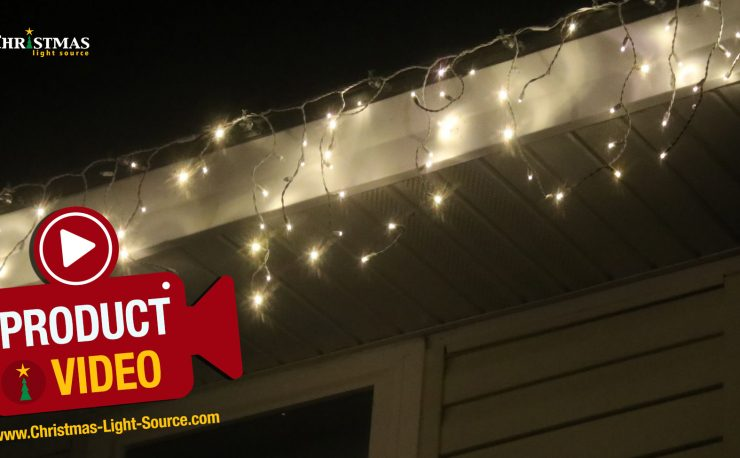 Warm white LED twinkle icicle lights