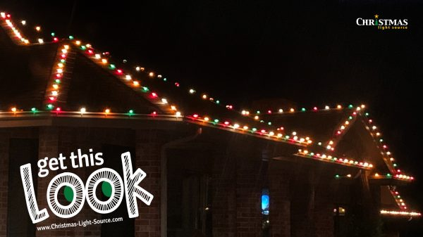 Red, White and Green Christmas Lights