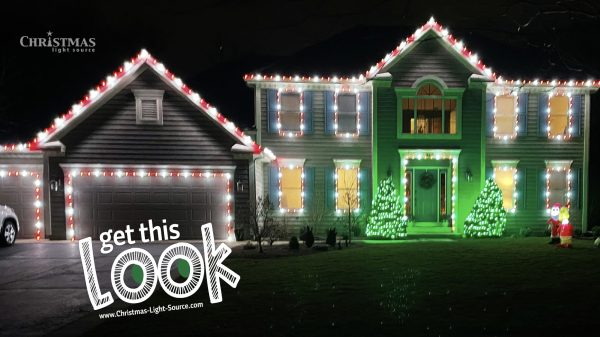 LED Red and White Christmas Lights