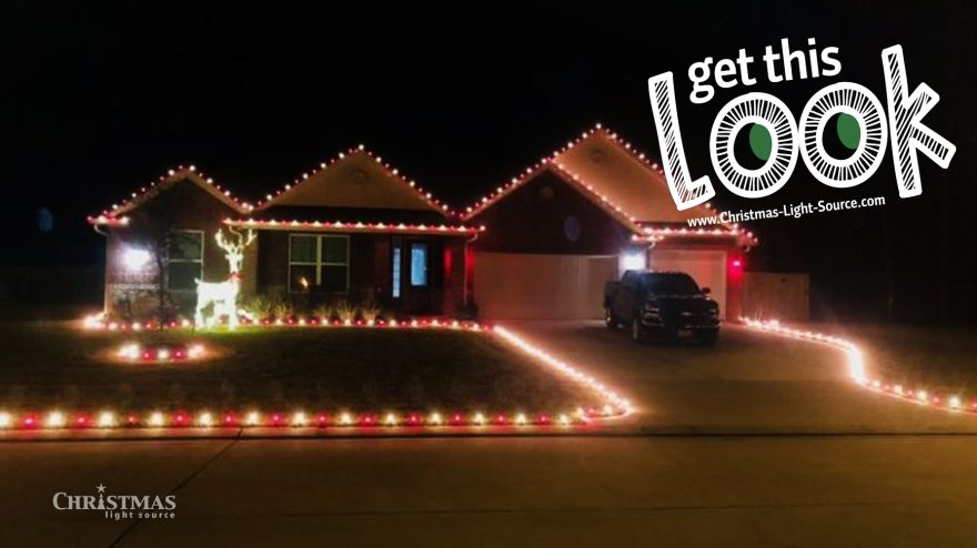 Get This Look: Classic red and White Glass Christmas Bulbs