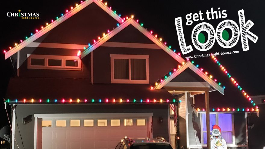 Get this Look: Gingerbread House with Opaque C9 Lights